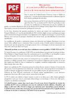 2e tour élections départementales 2015: déclaration de la section de Corbeil-Essonnes du PCF
