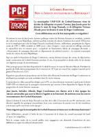Déclaration de la section du PCF de Corbeil-Essonnes: non à l'insulte aux valeurs de la République!