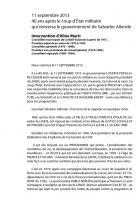 Hommage à Salvador Allende mercredi 11 septembre, le discours