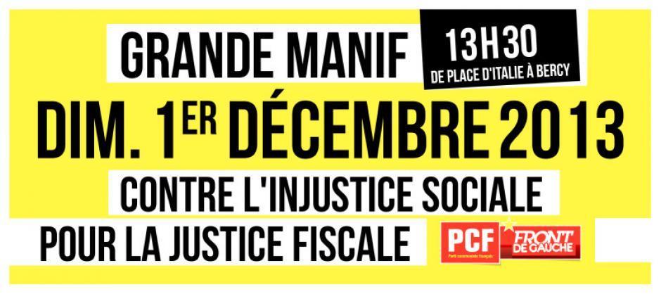 Marche pour la révolution fiscale à Paris